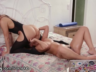 Sexy latina mom boob pressed